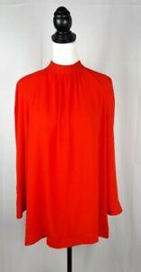 Women-039-s-River-Island-Red-Blouse-Kimono-Sleeve-Turtle-Neck-Size-16