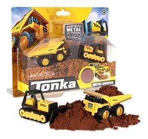 Tonka-Metal-Movers-Combo-Pack-poderoso-camion-volcado-amp-Excavadora-Volquete-Juguete-Para