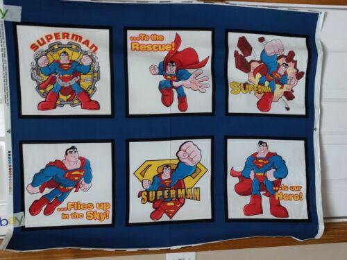 DC Super Friends Superman Pillow Panel by David Textiles btp