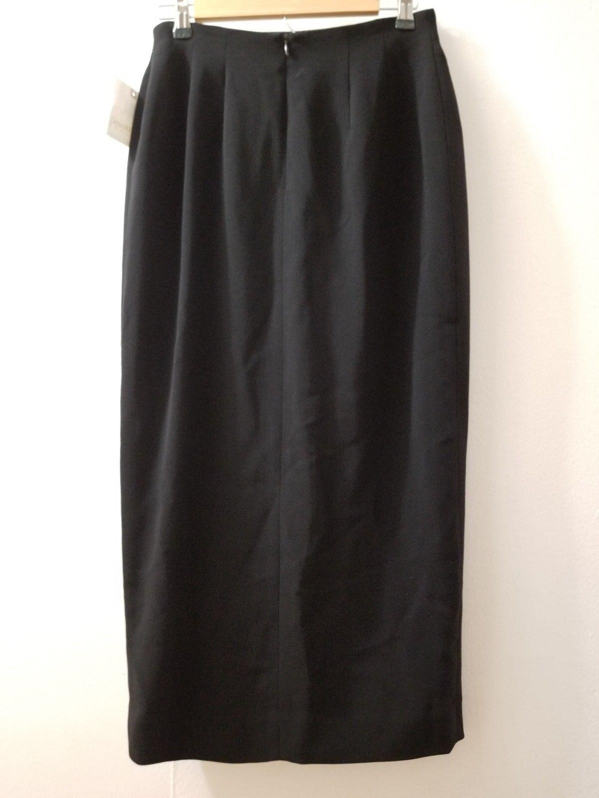 e9c33b0c5 Dana Buchman Long Black Origami Skirt Front Slit Size 10 Petite Fits ...