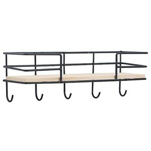 Wooden Wall Storage Rack Solid Wood Partition Shelf TV Wall Hanging Decor DB