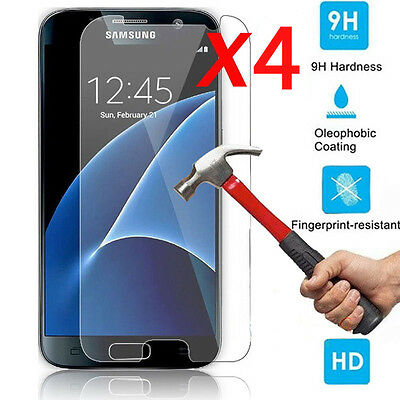 4Pcs 9H+ Premium Tempered Glass Film Screen Protector For Samsung Galaxy Phone