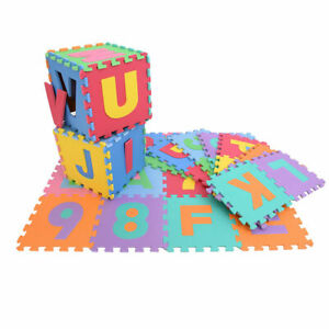 36pcs Kid Baby Alphabet/Number Interlocking EVA Foam Mat Play Puzzle Educational