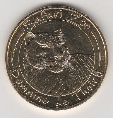 -- 2017 Coin Jeton Medaille Monnaie De Paris -- 78 770 Safari Zoo Thoiry Tigre