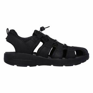 Sandalo Uomo Skechers in Pelle Nero 66511BLK   eBay