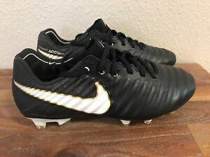 huge selection of c2483 0e205 Details about Nike Tiempo Legend VII 7 FG ACC Cleats Black/White/Gold  897752-002 Men Sz 4