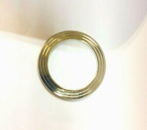 Stunning Stainless Steel BRASS Edge Gold affect Sikh Singh Khalsa Chakri Kara A6