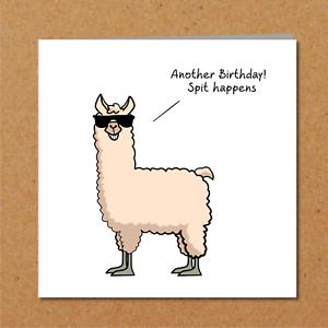 Drole De Carte D Anniversaire Lama Animal Vieillesse Se Humoristique Humour Adulte Rude Ebay