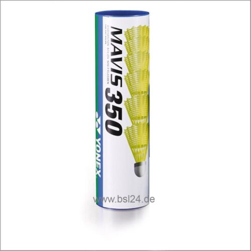 YONEX Mavis 350 Nylon Badmintonball Federball gelb/blau (6 Stück) -NEU