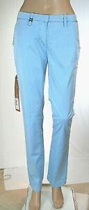 Jeans Donna Pantaloni MET Italy C972 Gamba Dritta Azzurro/Celeste Tg 27 28