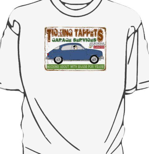 Saab 96 /'Ticking Tappets Garage Services/' t-shirt