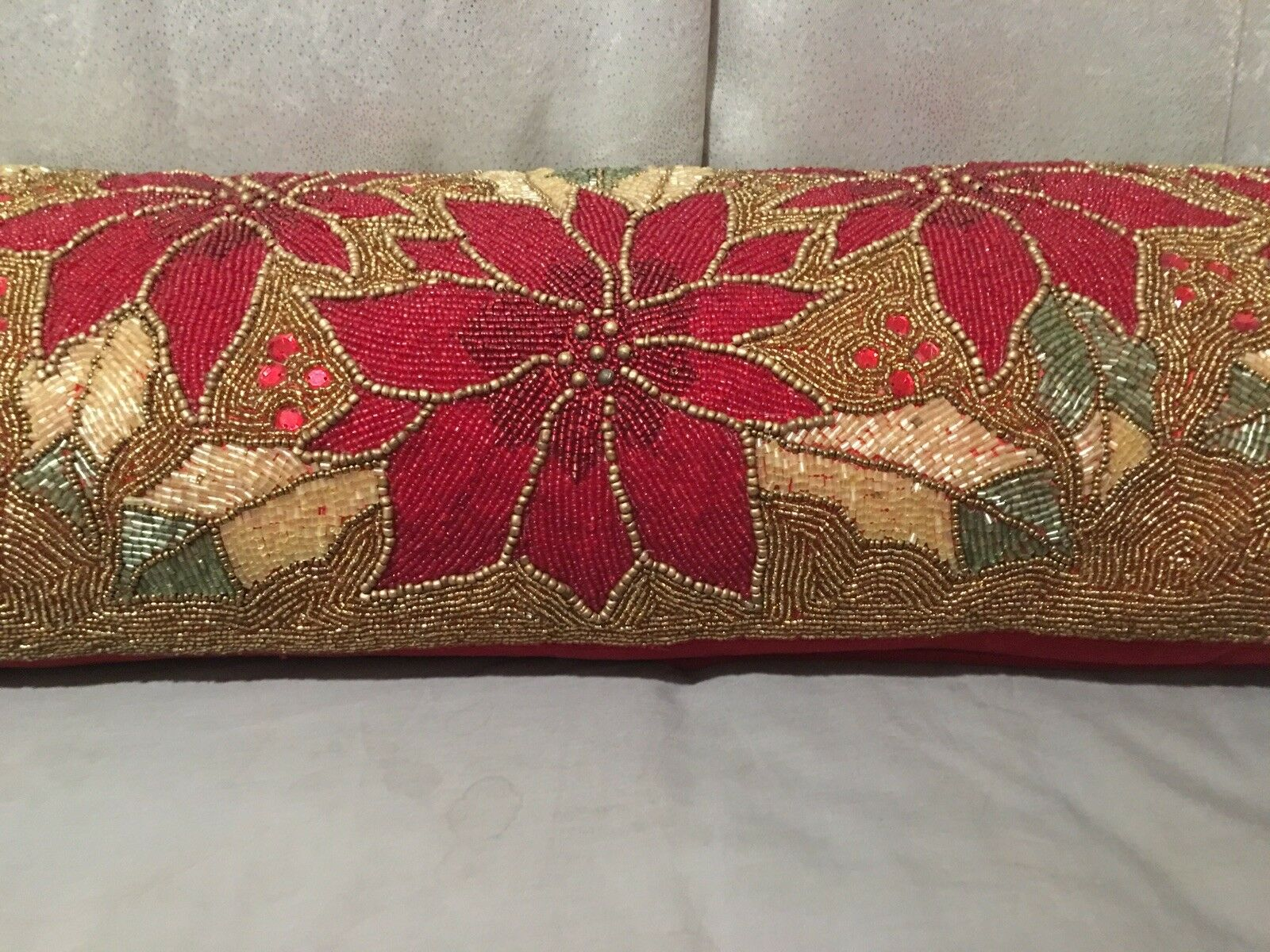 Glitz + Glimmer Beaded Pillow 13x36