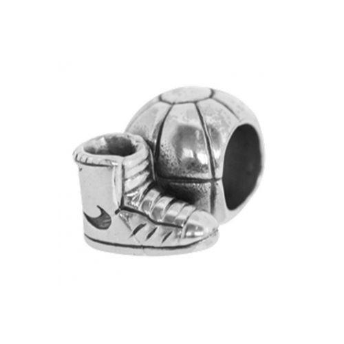 Watsup Silver Bead für Männer Silber Basketball Charms MKD-015 Männer Ball
