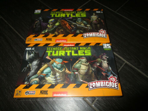 Zombicide Teenage Mutant Ninja Turtles TMNT SDCC Promo Exclusive Full Set #1 #2