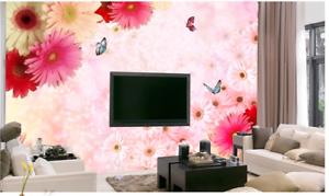 3D Daisy Butterflys 79 Wall Paper Murals Wall Print Wall Wallpaper Mural AU Kyra
