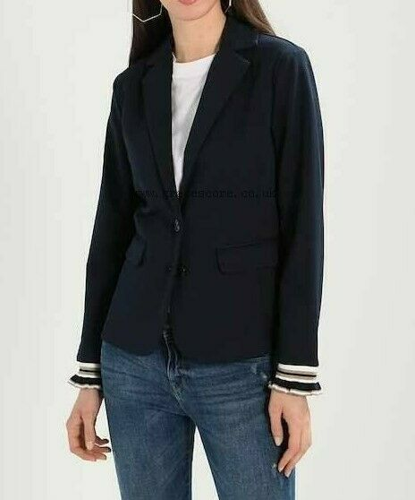 CREAM Anett Navy Sporty Blazer UK Size Small S (WB29)