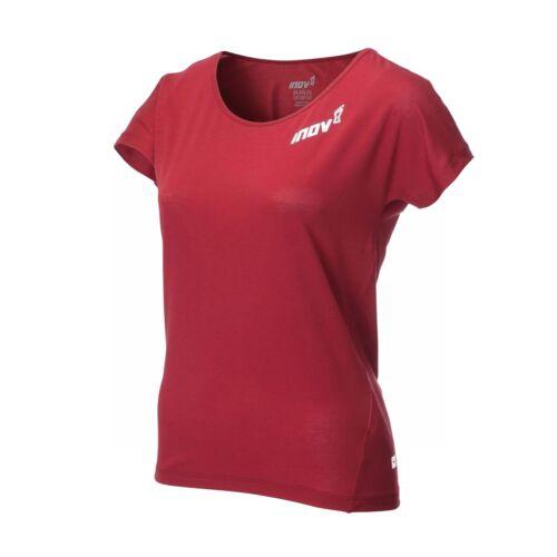 Inov 8 AT//C Dri Release Femme Séchage Rapide à manches courtes T-shirt rouge foncé