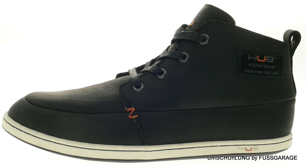 HUB Footwear SUBWAY L black schwarz EchtLeder Schnürschuhe Herrenschuhe NEU SALE