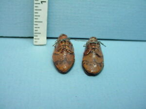 Miniature Sylvia Rountree Brown Men/'s Fringed Loafers Shoes DOLLHOUSE 1:12