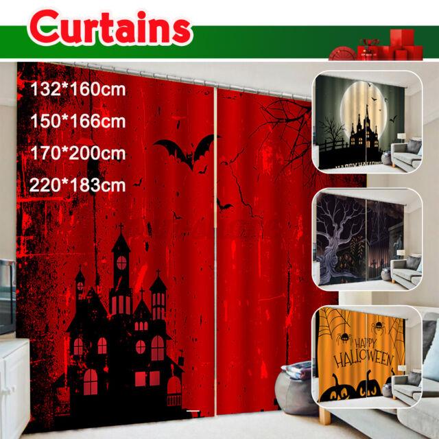 Pumpkins Halloween Window Curtain Kitchen Curtain 26 X 39 Two Piece For Sale Online Ebay