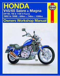 1982 1988 honda v45 v65 sabre magna vf700 vf750 vf1100 repair manual rh ebay com honda vf700 magna service manual Honda Magna Custom