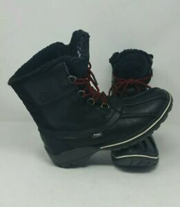 Black-Pajar-Banff-Men-039-s-Waterproof-Duck-Snow-Boots-Wool-Lined-size-US-10