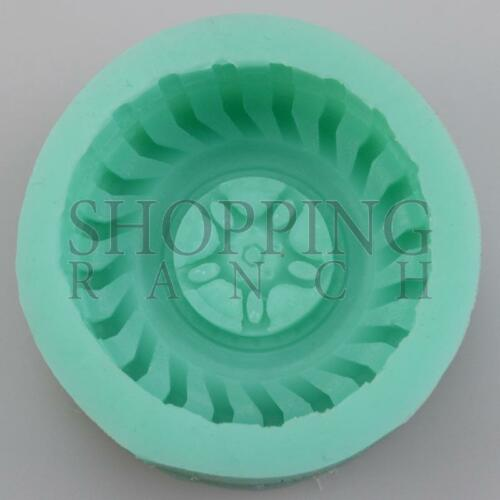 Wheel Tyre Silicone Mould Cake Sugarcraft Chocolate Modelling Tool Mold