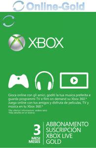 Abbonamento-Xbox-Live-Gold-di-3-mesi-Codice-Microsoft-Xbox-One-360-chiave-IT