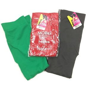 a6edf585083eb Details about LOT of 3 MOPAS womans free size green gray red nylon ankle  length sheer leggings