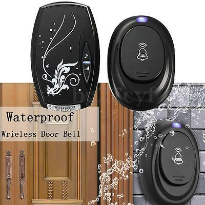 EU Wireless Doorbell Remote Control Receiver 100M Range 36 Chim Songs Waterproof