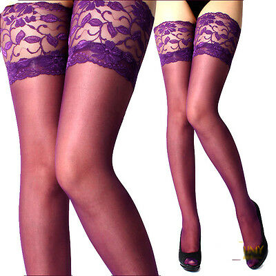 Sexy Lace Silicone Top Stay Up Thigh-High Stockings High Quality Top Rate Seller