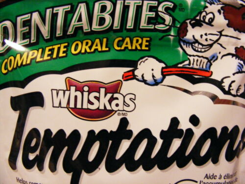 600 grams! 10 Packages Whiskas Temptations Treats for Cats DENTABITES