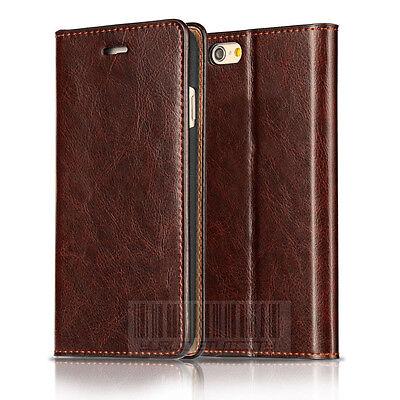 Handy Tasche für Echt Leder Schutz Hülle Flip Wallet Case Cover Etui Bumper