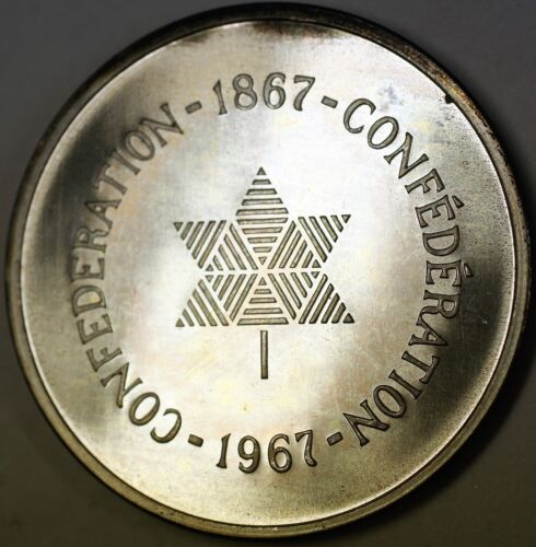 1867-1967 Canada Confederation 100 Years Silver Anniversary Toned Proof Medal
