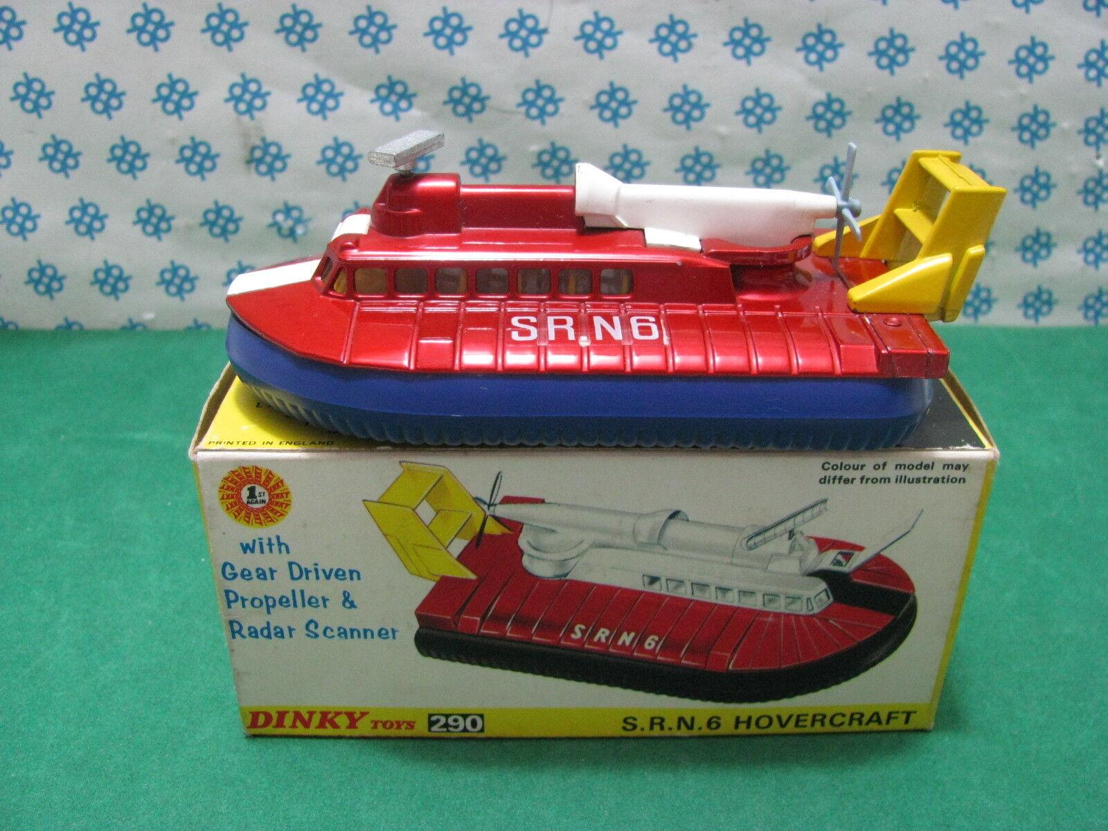Vintage - HOVERCRAFT  SRN6        -  Dinky toys  290   Mint in Box