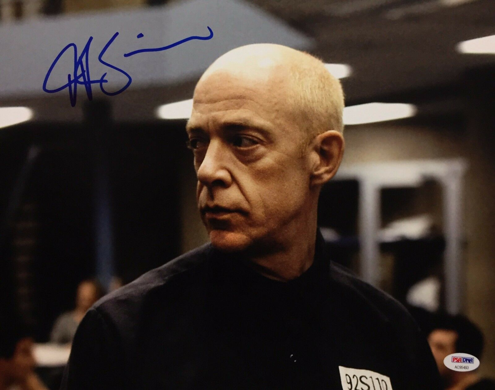 J.K. JK Simmons Signed 11x14 Photo *Spider-Man *Juno *Batman PSA AC95493