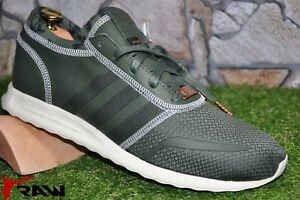 ADIDAS Taglia UK 12 EU 47 ORIGINALS LOS ANGELES Verde Nuovo