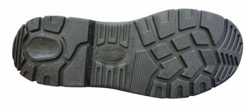 Portwest FW14 Steelite Black Leather Work Shoe with Protective Steel Toecap ASTM