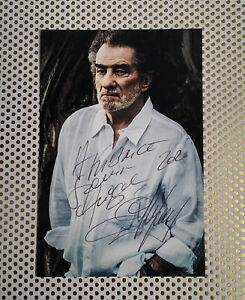 autographe Dédicace Eddy Mitchell 10 X 15 Carte Postale