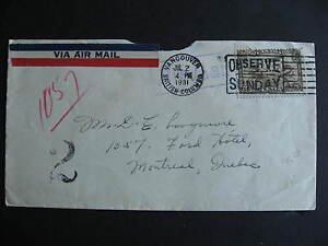 CANADA-odd-1931-cover-postage-due-purple-Hotel-Ford-Montreal-cancel-on-back