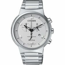 Citizen Eco-Drive Men's Chronograph Silver-Tone 41mm Watch AT2400-81A