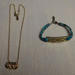 Ettika-Necklace-and-Bracelet-Blue-Leather-Braided-Bracelet-3-Gold-Rings-Necklace