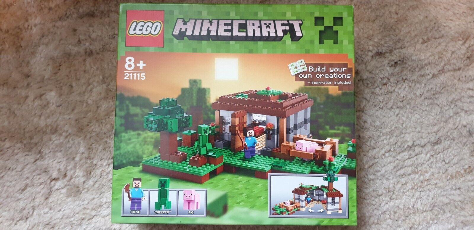 Neu & ovp LEGO Minecraft 21115 Seves Haus Creeper Pig Mojang TOPP