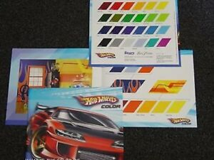 HOT-WHEELS-The-Color-of-Speed-Paint-Brochure-WAY-COOL-FREE-SHIPPING-TOO