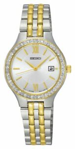Seiko-Ladie-039-s-Stainless-Steel-2-Tone-Water-Resistant-Analogue-Watch