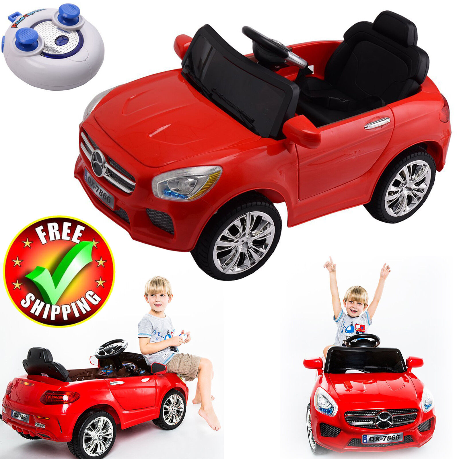Battery Powered Car Kids Ride On Toy Remote Control 6V Toddler RC Vehicle New