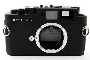 Excellent-Voigtlander-Bessa-R3A-mat-Black-Film-camera-from-Japan-427833