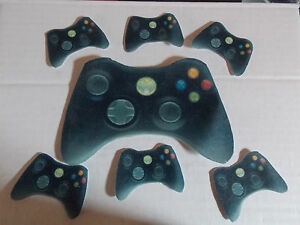 Large Edible precut Xbox Controller cake and cupcake toppers