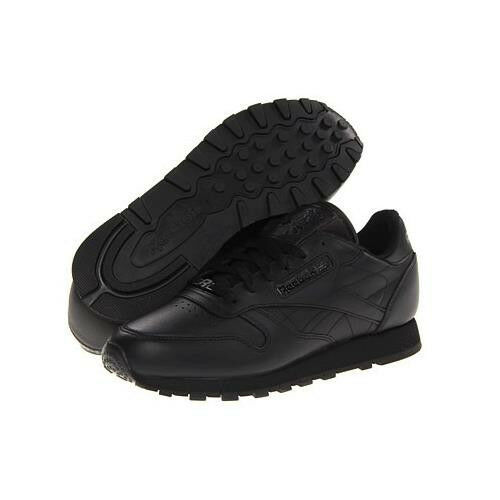 sports shoes c3a28 8413f Reebok Classic Leather Leather Leather Running Shoe in Black in Sizes 6.5  to 15 20400d