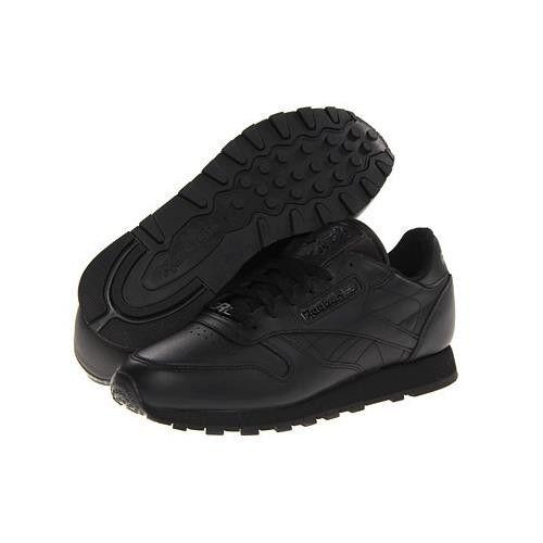 Reebok Classic Leather Running zapatos En Negro En Tallas 6.5 Al 15